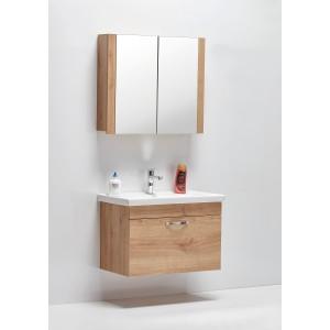Home Saydam Stil 60 cm Banyo Dolabı Meşe